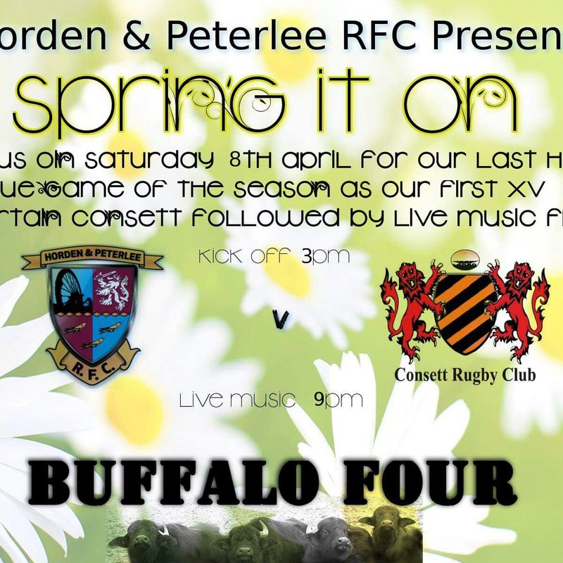 8th April - Last home game of the season + Live music