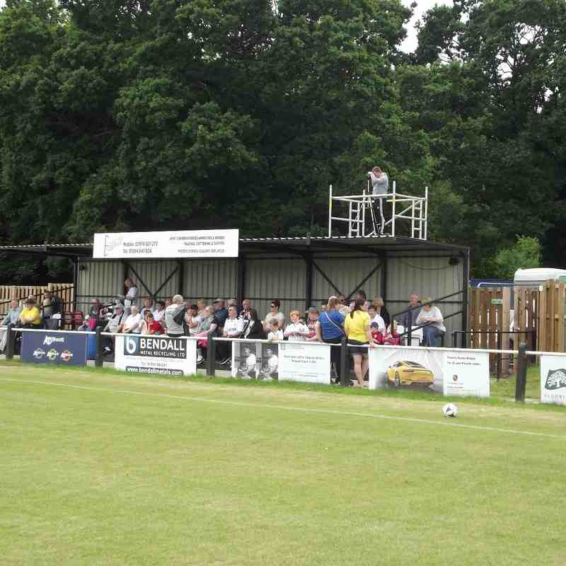 TV gantry behind the stand