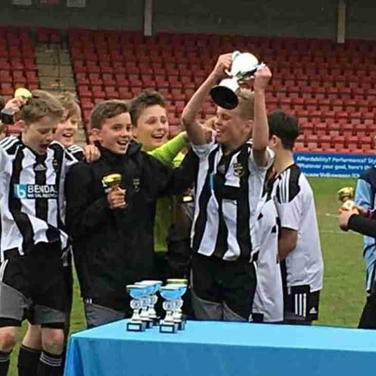 Under 12's do the double