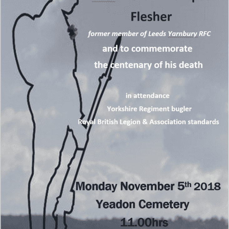 Rededication of the grave of Pte. Arthur Thompson Flesher