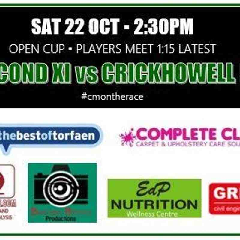 Reserves v Crickhowell - Sat 22 Oct 2016