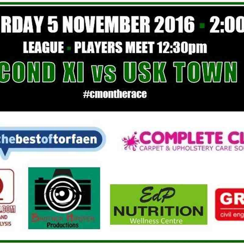 Reserves v Usk Town B - Sat  5 Nov 2016