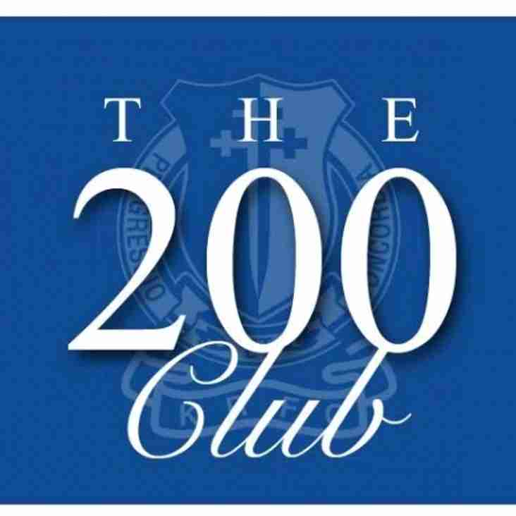 KRFC '200 Club' December Winners.