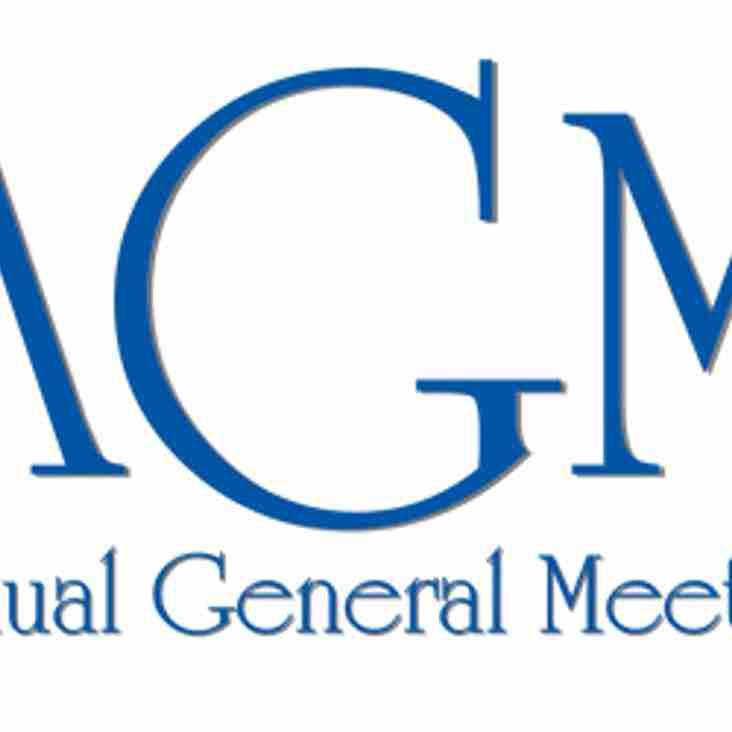 KRFC AGM - Friday 27th July at 8pm