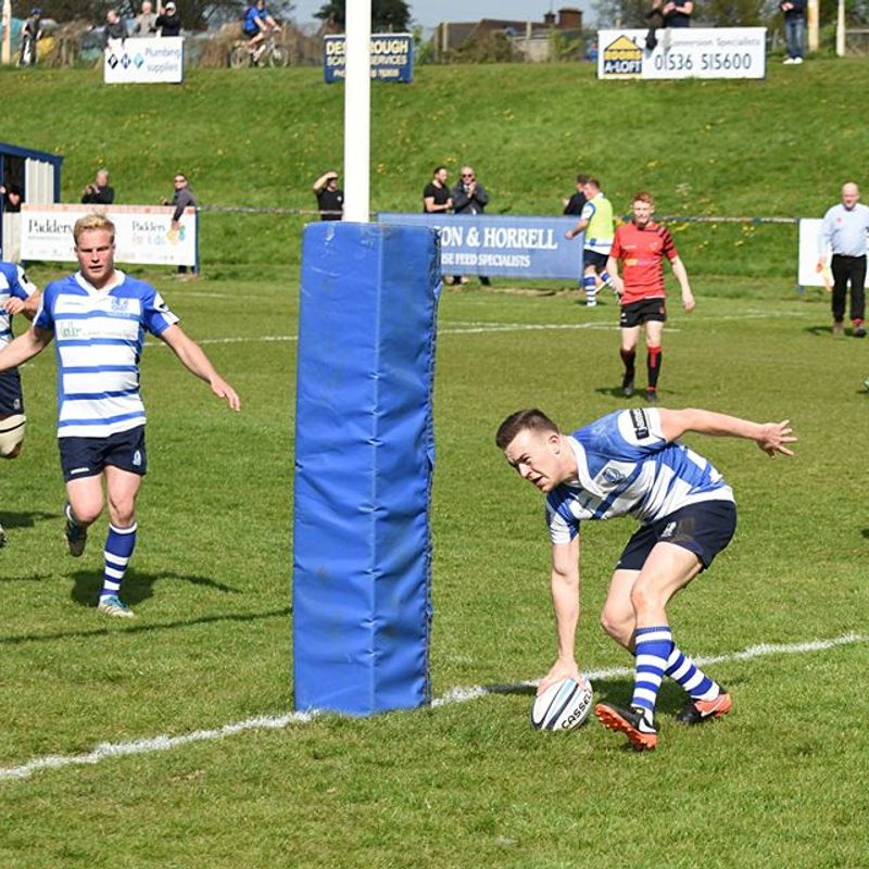 Billy Burrell gets three tries as Blues secure HOME play off place next Saturday!