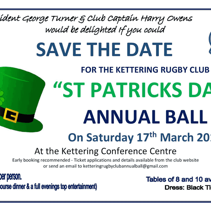 Kettering Rugby Club Ball 2018