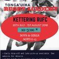 Tonga'uiha Rugby Academy comes to Kettering Rugby Club this Summer!