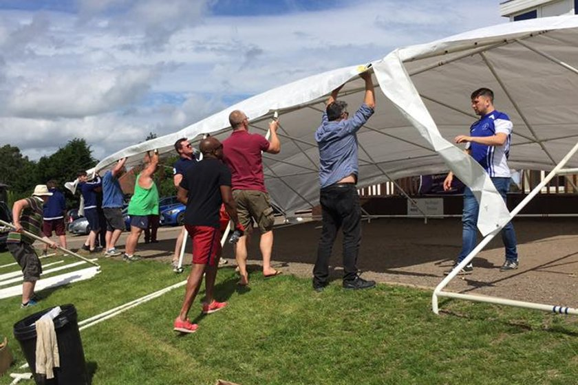 Beer Festival Marquee breakdown - Sunday 24th 10am