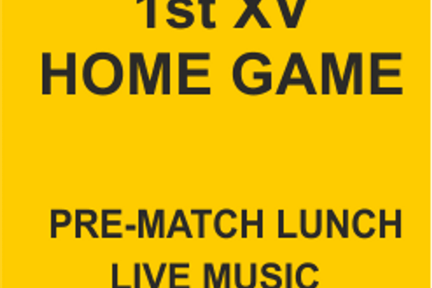 Match Day Lunch v Old Scouts - 29th September.