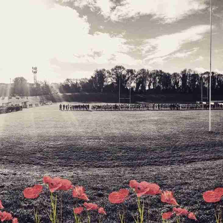 Remembrance Sunday at Kettering Rugby Club.