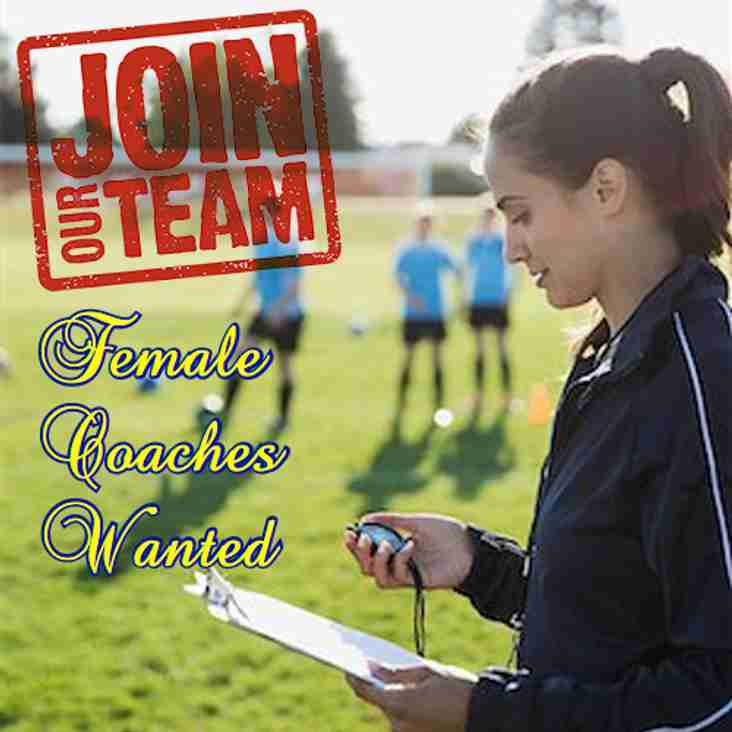 New Initiative!  Female Coaches Wanted!