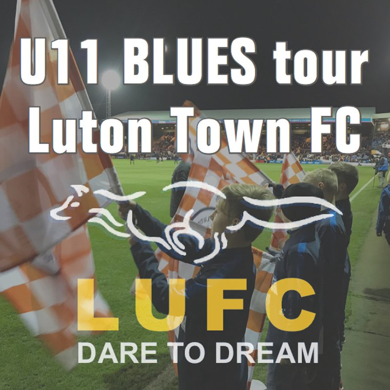 LUFC U11 Blues Flag Waving and Stadium Tour at Luton Town FC