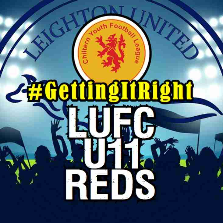 LUFC U11 Reds Getting It Right!