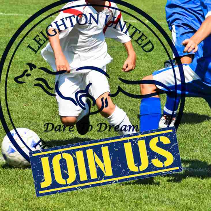 Leighton United  U10 Blues looking for more players