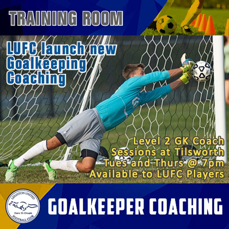 Goalkeeper Coaching now available at LUFC