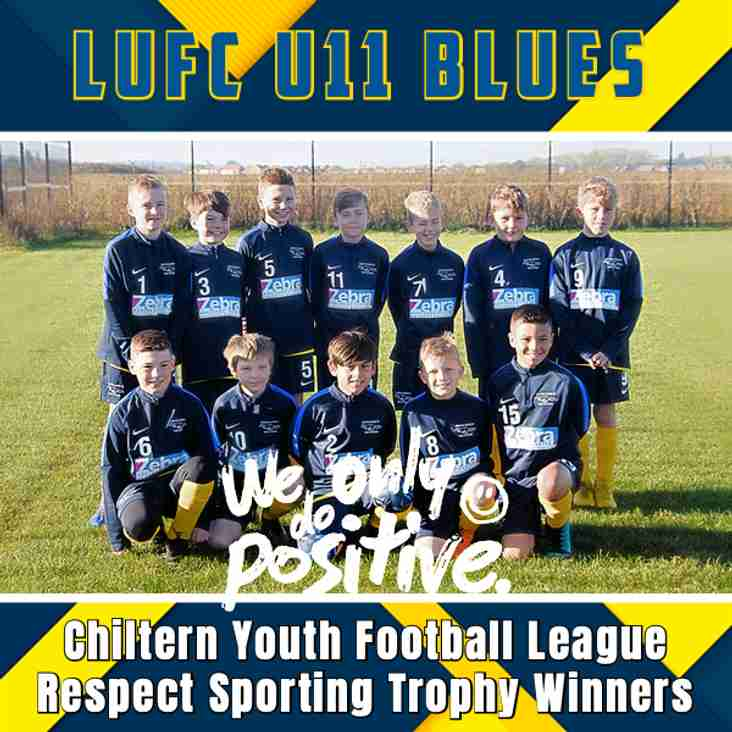NEWS FLASH! - LUFC U11 Blues Win Respect Sporting Award!