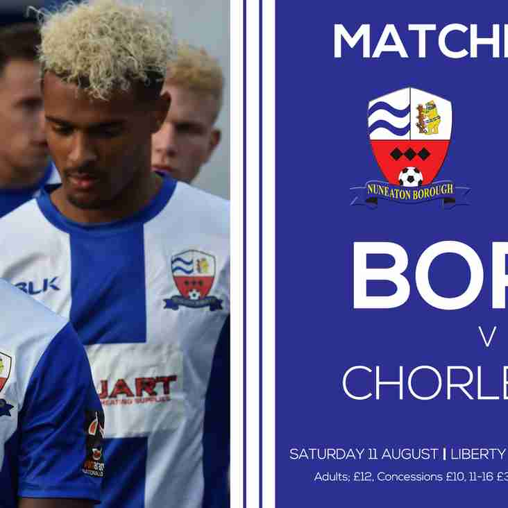 PREVIEW: Chorley (Saturday 11th August 2018)