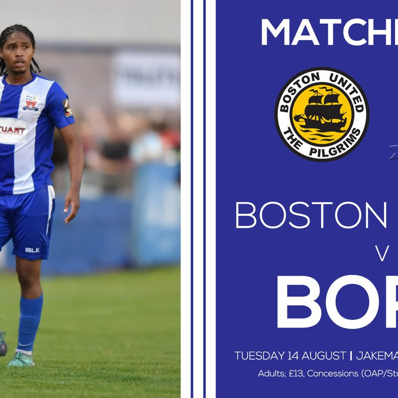 PREVIEW: Boston United (Tuesday 14th August 2018)