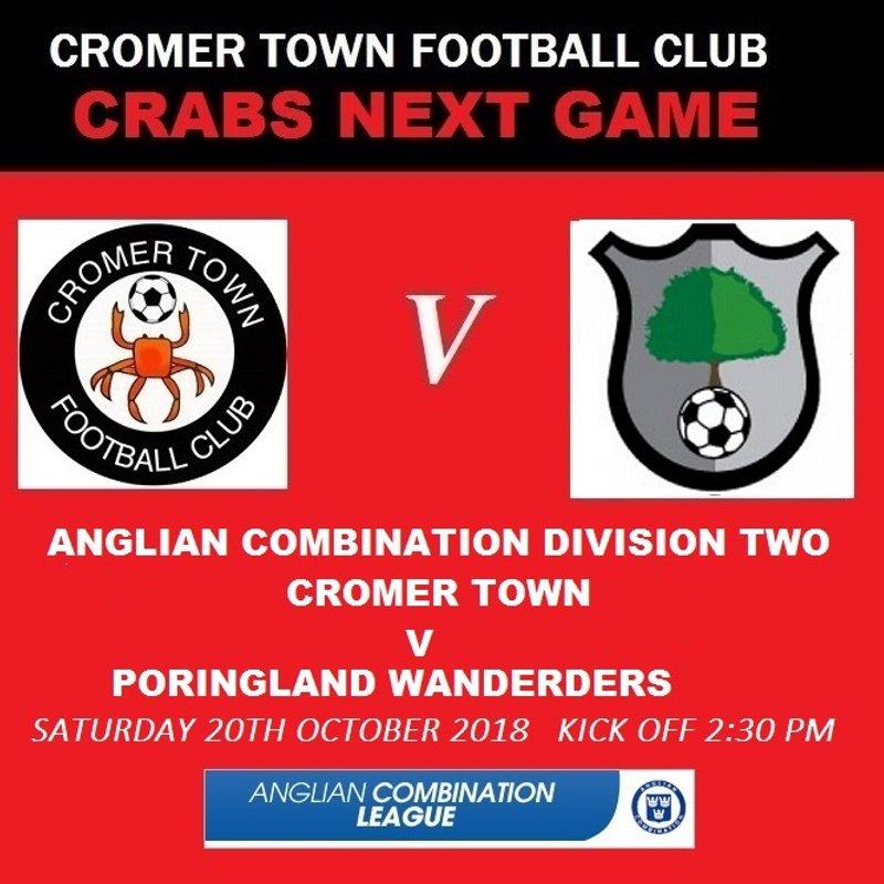 Cromer Town v Poringland Wanderders