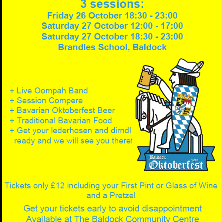 Get your tickets for Oktoberfest!!!
