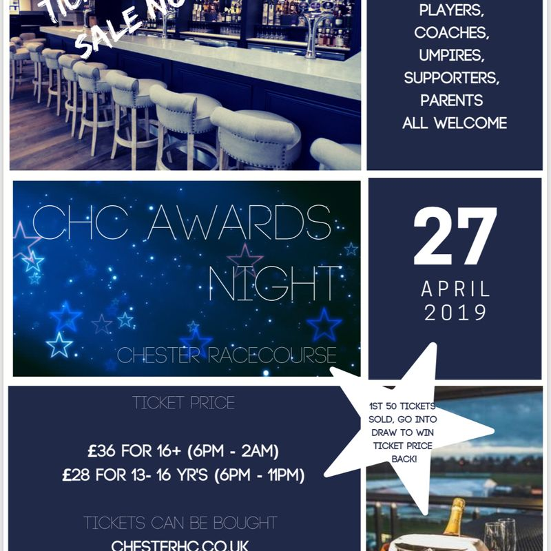 Tickets Now for Sale for Awards Night - Saturday 27th April...!