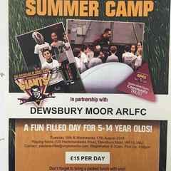 Community Club Summer Camp at Dewsbury Moor - 16 & 17 August