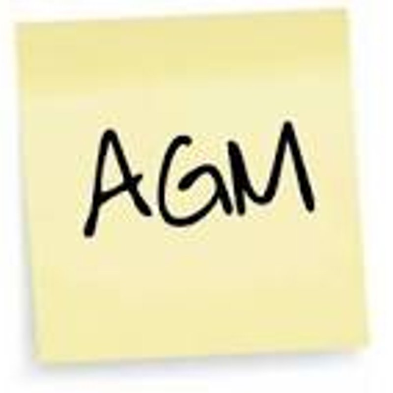 Annual General Meeting - Wed 7th June at 7:30pm
