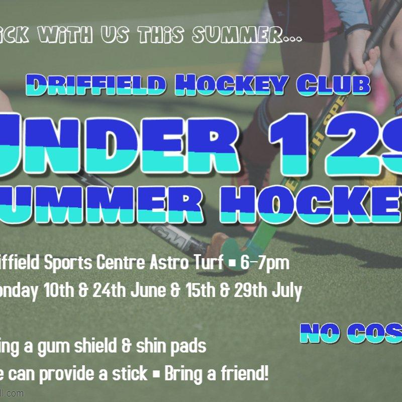 Junior Summer Hockey - Under 12's - BRING A FRIEND