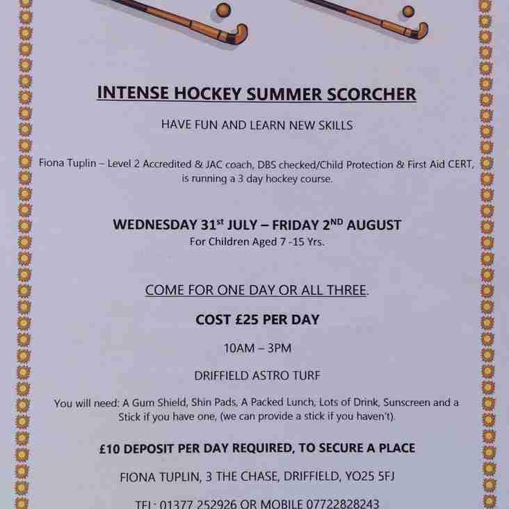 Intense Hockey Summer Scorcha