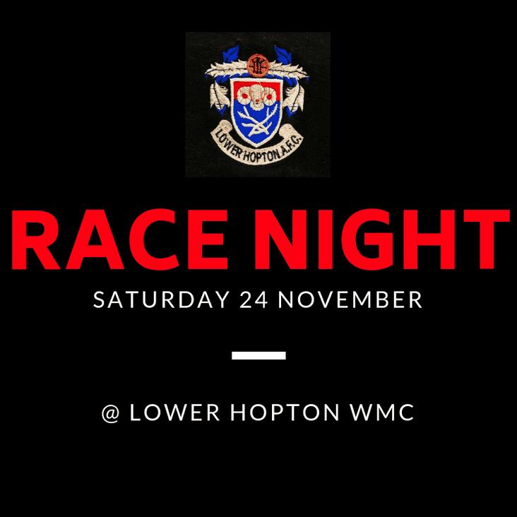 Race Night @ Lower Hopton WMC