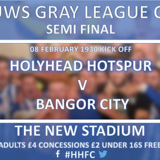 SEVEN UP HOTSPUR 'BANG ON' AGAINST BANGOR