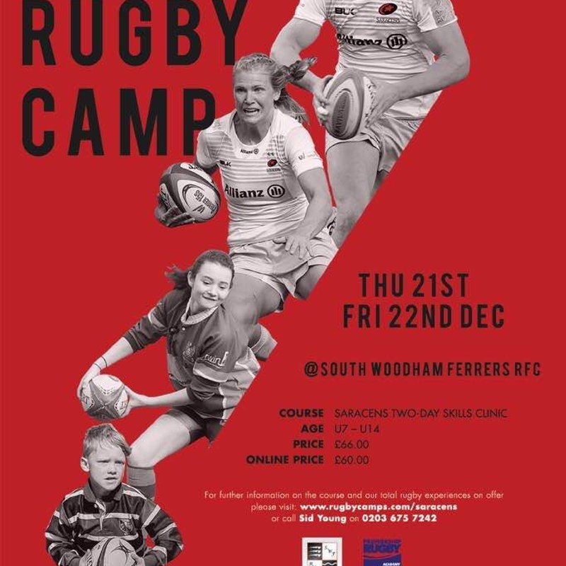 Christmas Saracens Rugby Camp 2017 – South Woodham RFC