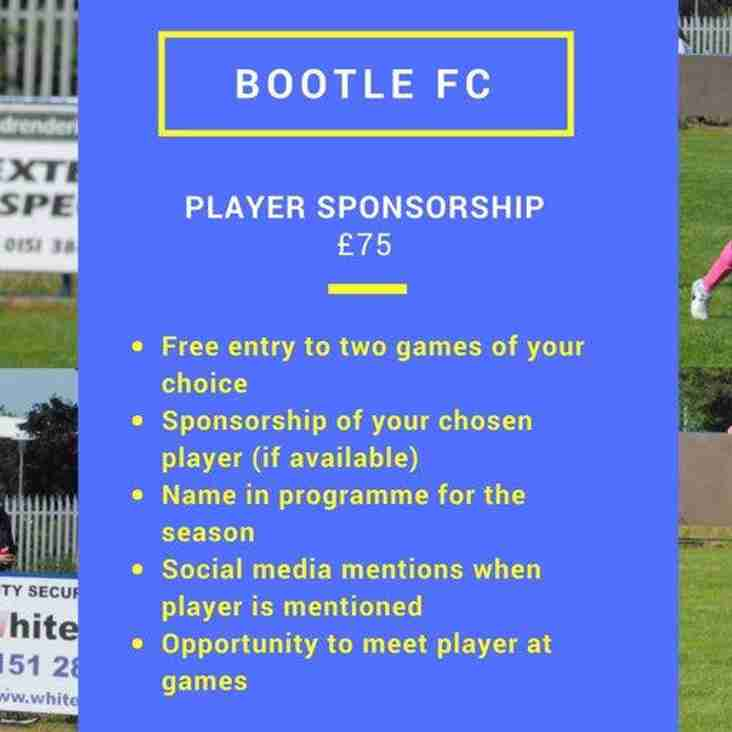 Player Sponsorships Now Available