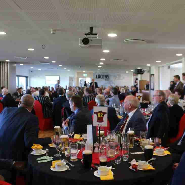 Book your Pre-Match Lunch places for 2019 NOW