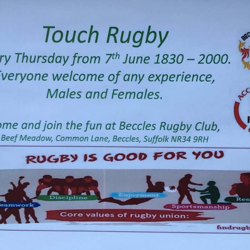 Touch Rugby Starts