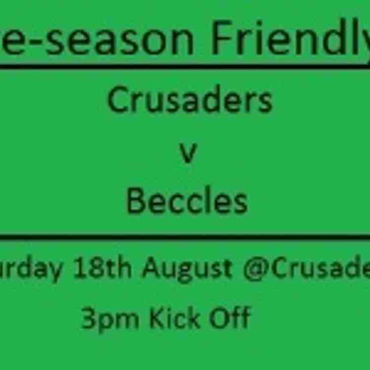 Season Opener at Crusaders