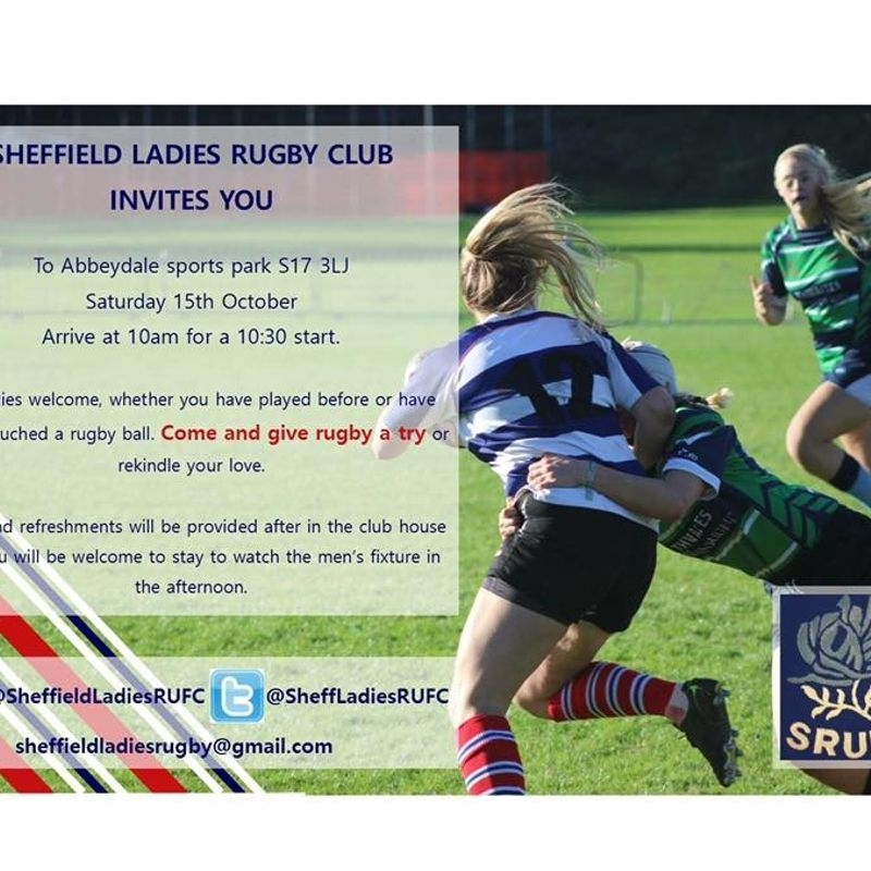 Sheffield RUFC Ladies Invitation  - Come and give it a go - 'open day ' 15th October