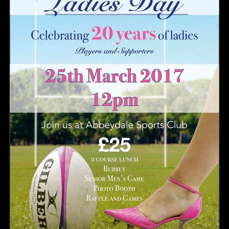 Celebrating 20 Years of Ladies @ Sheffield RUFC =25th March=
