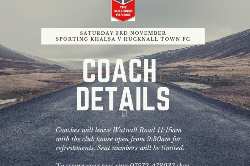 Fixture change and Coach details