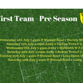 First Team Pre Season Fixtures