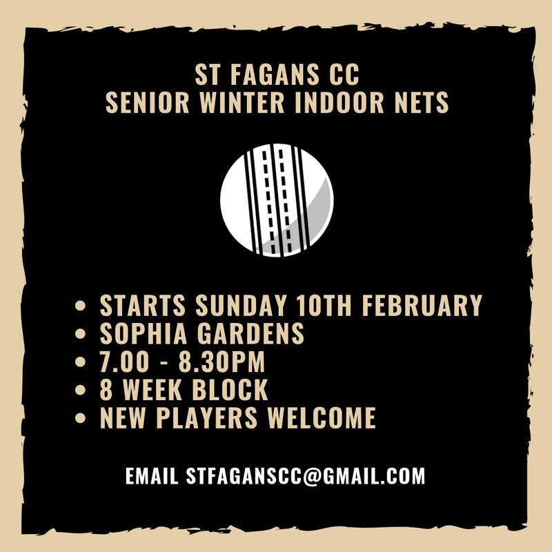 Winter nets for senior players