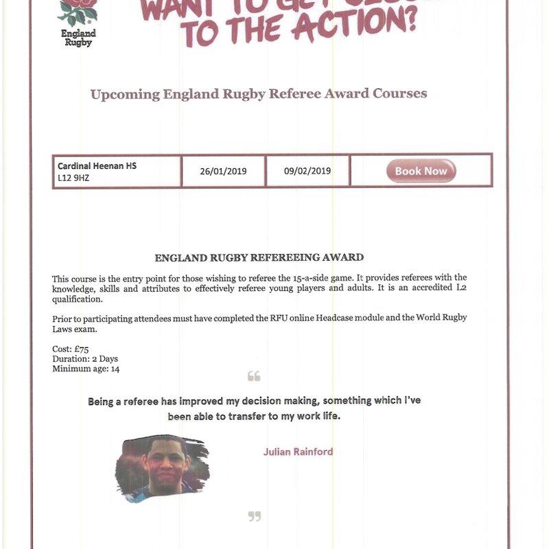Accredited L2 Referee Course