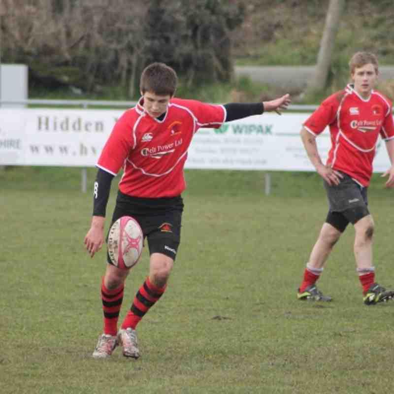 Welshpool RFC U15 vs Newtown RFC U15