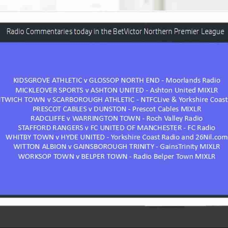 Radio Commentaries this Afternoon