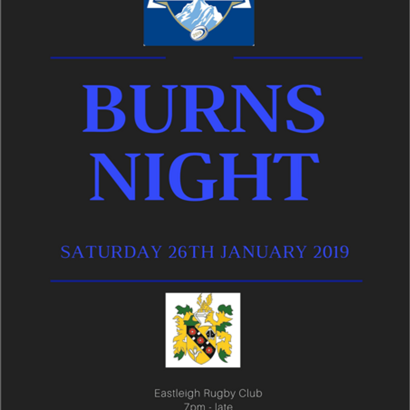 Wooden Spoon Charity Event - Burns Night Supper