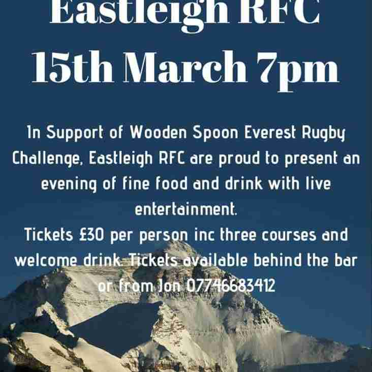 Everest Night Charity event at Eastleigh RFC