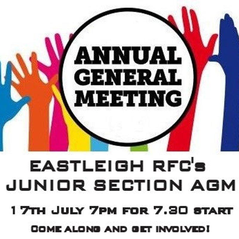 ERFC Junior's AGM