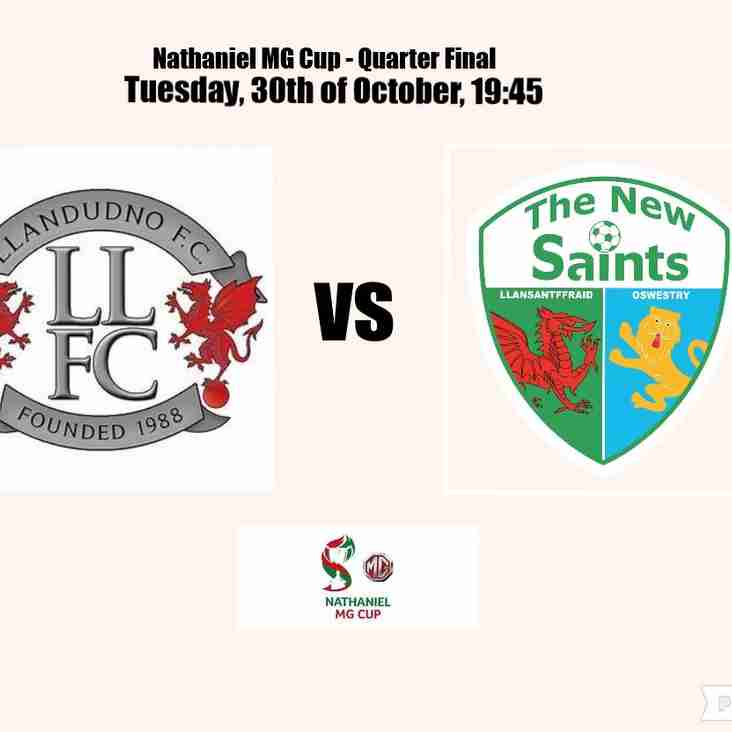 Llandudno drawn at home against holders TNS in next round