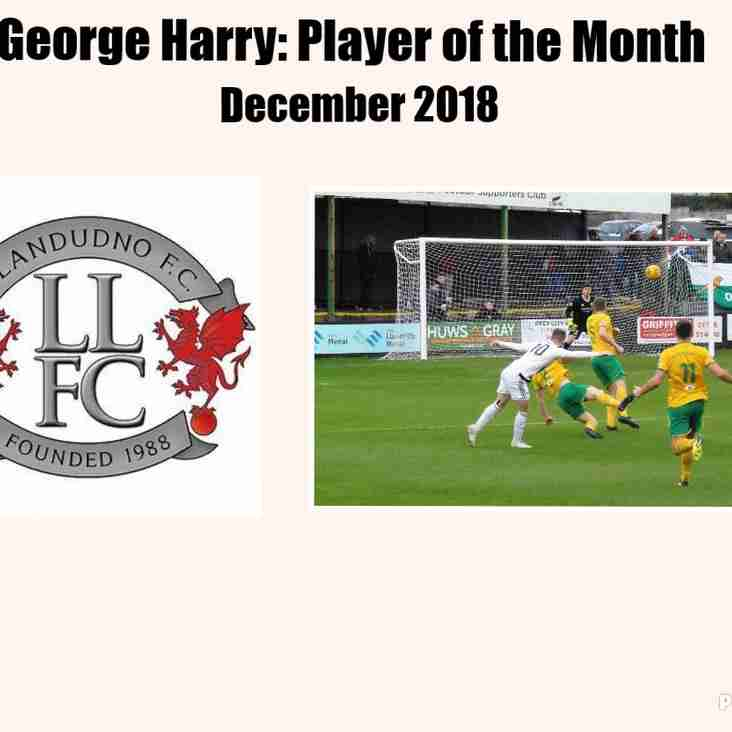 George Harry wins December's Player of the Month award