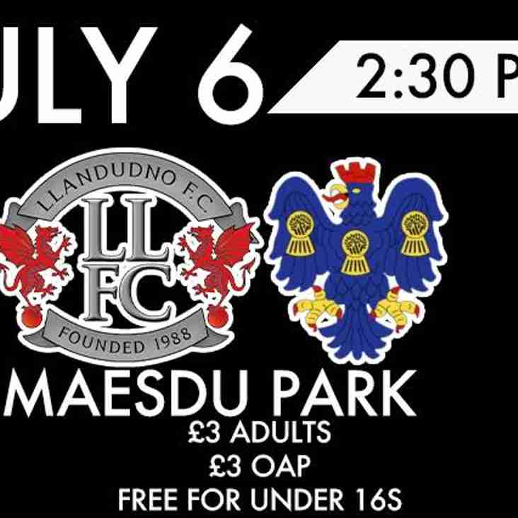 Northwich Victoria come to Maesdu Park for the first game of pre-season
